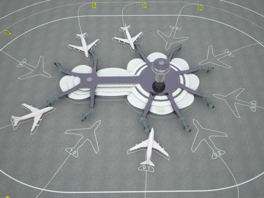 aeropuerto royalty-free modelo 3d - Preview no. 6