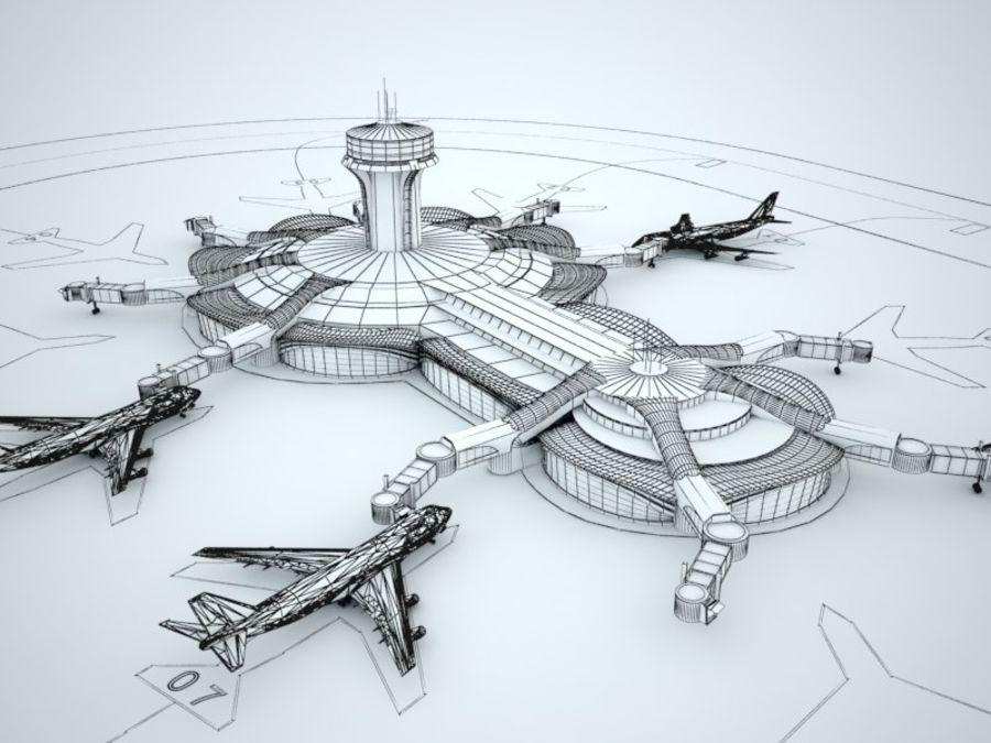 aeropuerto royalty-free modelo 3d - Preview no. 9
