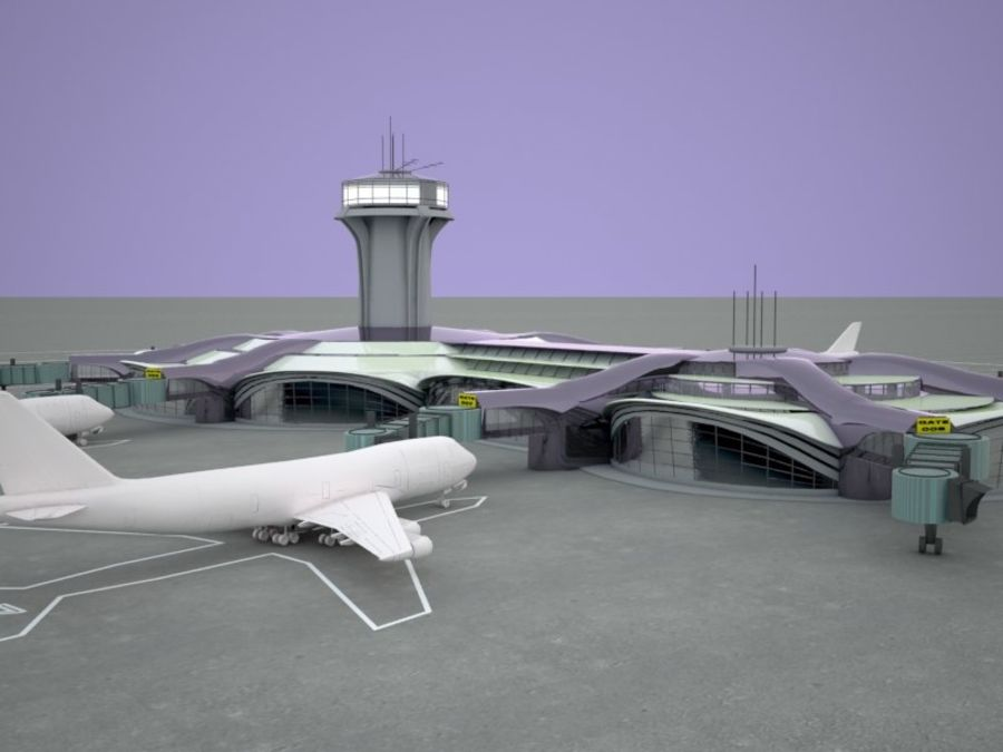 luchthaven royalty-free 3d model - Preview no. 3