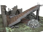 Ruina de la casa 2 modelo 3d