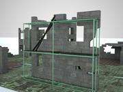Ruina de paredes modelo 3d