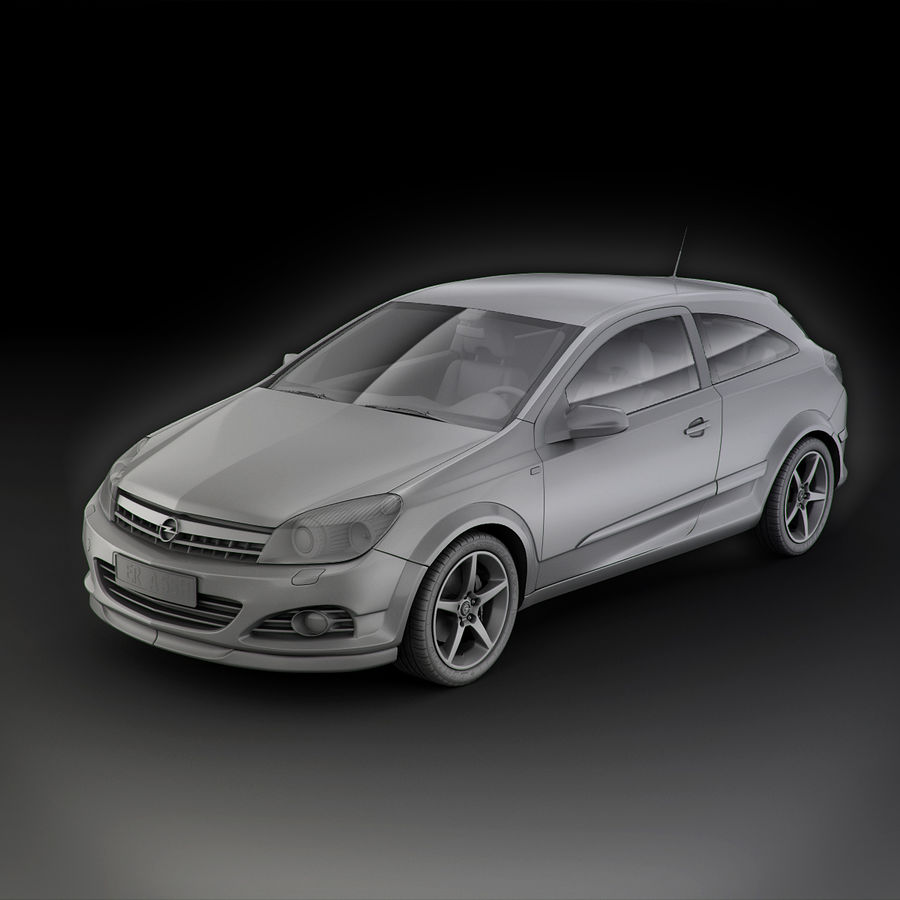 Opel Astra H GTC Opel royalty-free 3d model - Preview no. 12