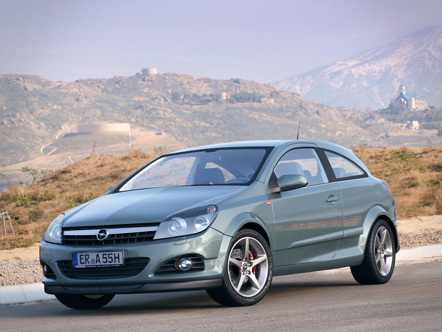 Opel Astra H GTC Opel royalty-free 3d model - Preview no. 1
