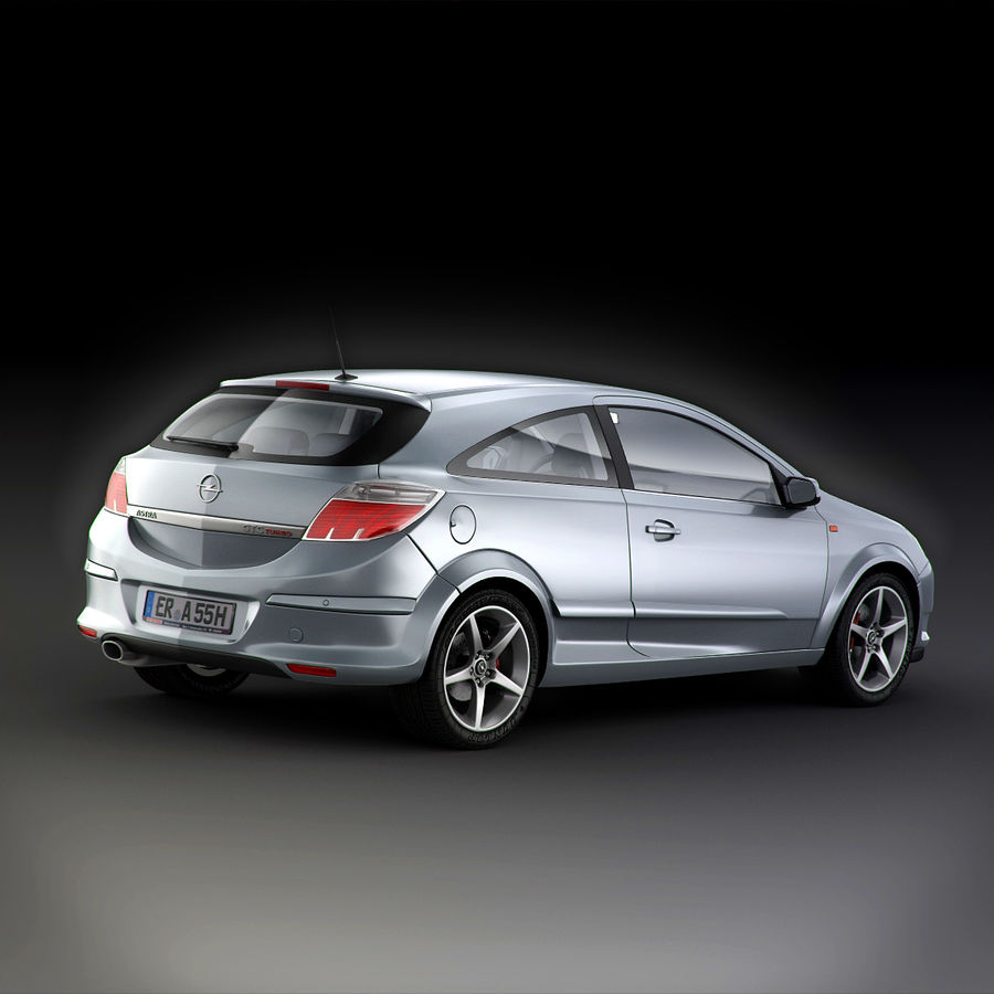 Opel Astra H GTC Opel royalty-free 3d model - Preview no. 8