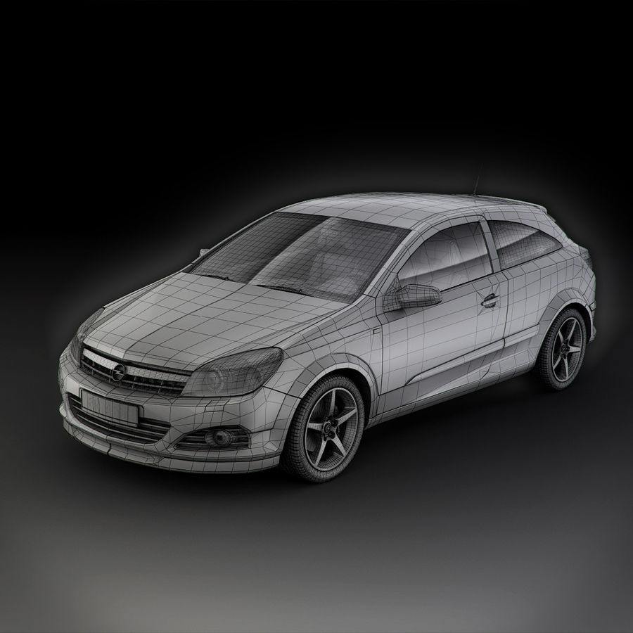Opel Astra H GTC Opel royalty-free 3d model - Preview no. 13