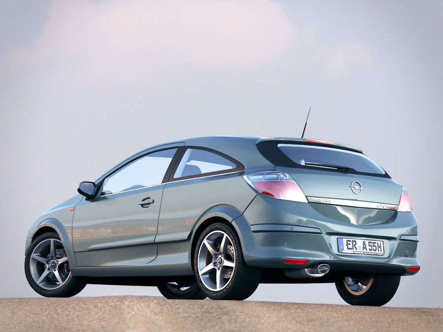 Opel Astra H GTC Opel royalty-free 3d model - Preview no. 2