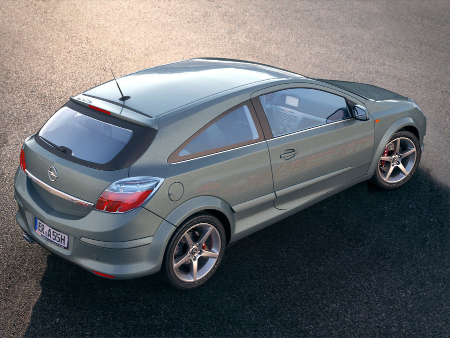 Opel Astra H GTC Opel royalty-free 3d model - Preview no. 4