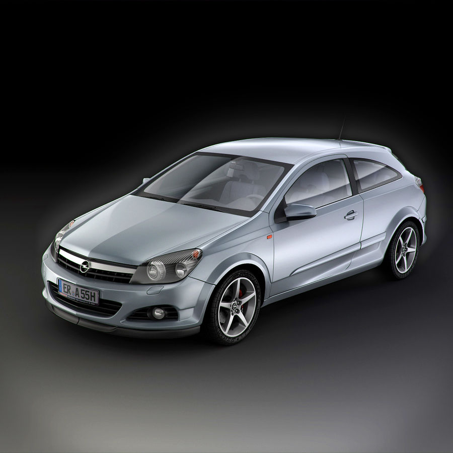 Opel Astra H GTC Opel royalty-free 3d model - Preview no. 11