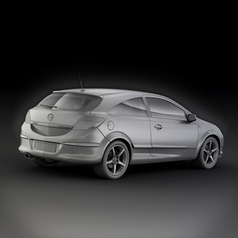 Opel Astra H GTC Opel royalty-free 3d model - Preview no. 9