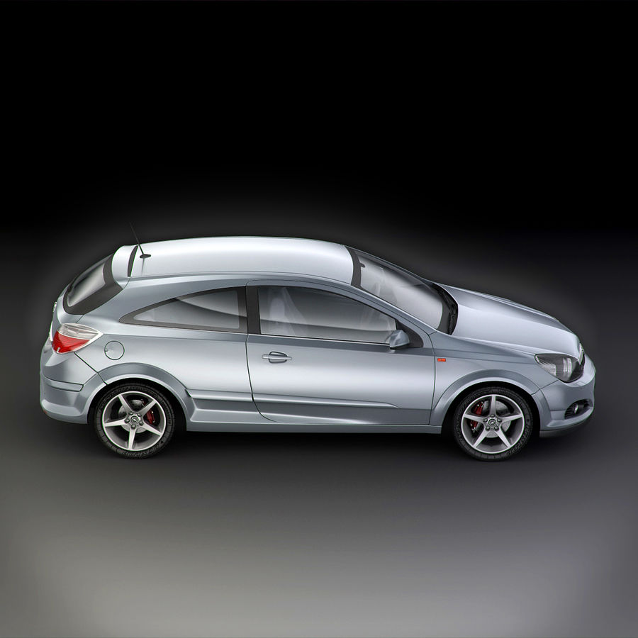 Opel Astra H GTC Opel royalty-free 3d model - Preview no. 14