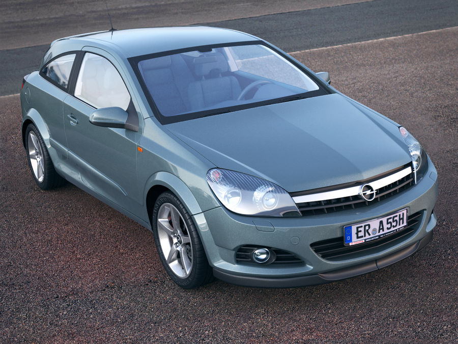 Opel Astra H GTC Opel royalty-free 3d model - Preview no. 5