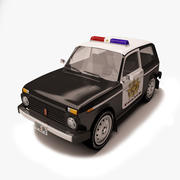 Lada Niva Police 3d model