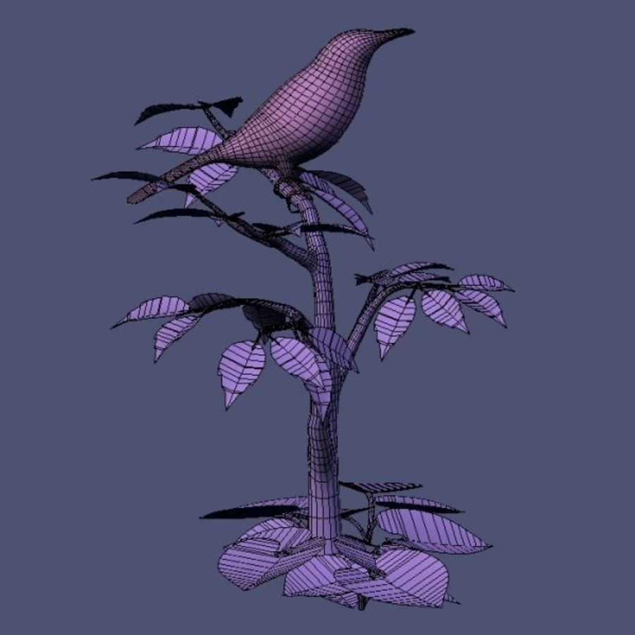 AB Brown Thrasher royalty-free 3d model - Preview no. 8