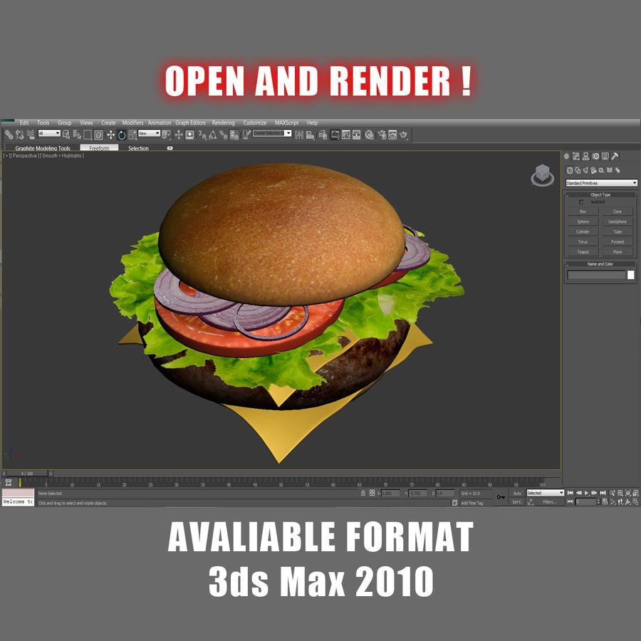 Hamburger royalty-free 3d model - Preview no. 8