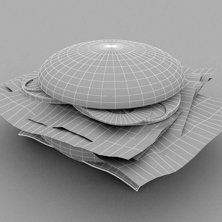 Hamburger royalty-free 3d model - Preview no. 11