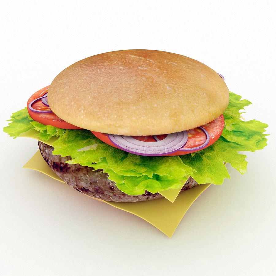 Hamburger royalty-free 3d model - Preview no. 4