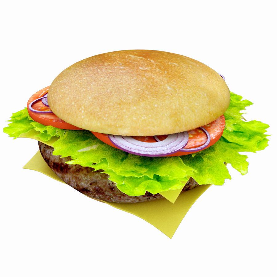 Hamburger royalty-free 3d model - Preview no. 1
