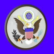 Pieczęć stanowa USA 3d model