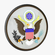 State Seal USA 3d model