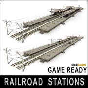Estaciones de ferrocarril modelo 3d