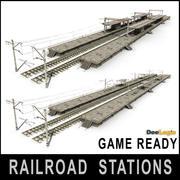 鉄道駅 3d model