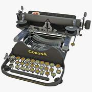 Máquina de escrever portátil Corona 1920 3d model