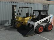 Skidsteer And Forklift 3d model