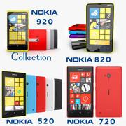 Coleção Nokia Lumia 920, 820, 720 e 520 3d model