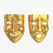 Masken Theater glücklich traurig 3d model