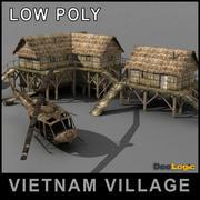 ベトナム村のシーン 3d model