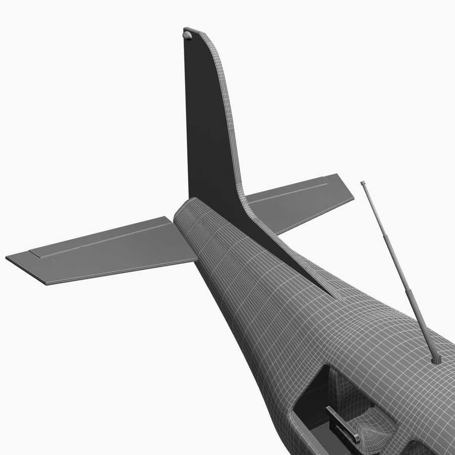 Twin Piston Small Airplane royalty-free 3d model - Preview no. 26