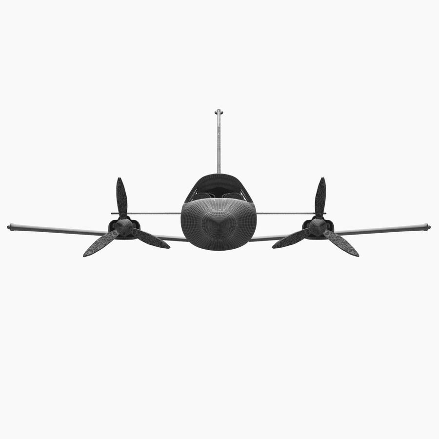 Twin Piston Small Airplane royalty-free 3d model - Preview no. 29