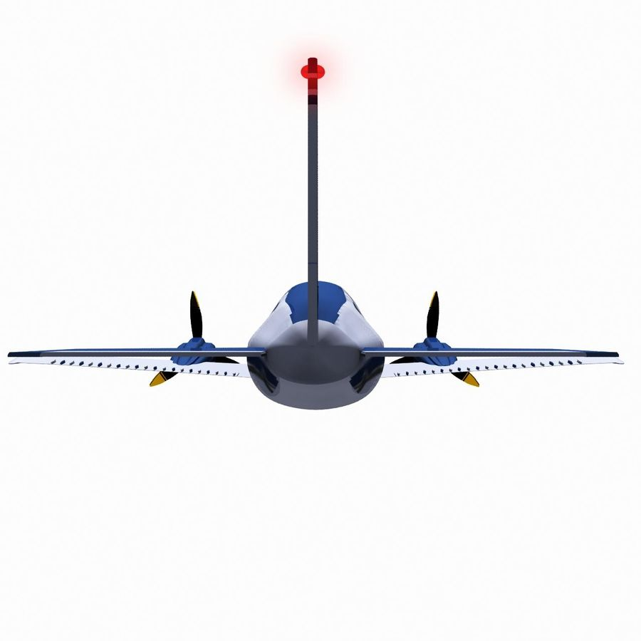 Twin Piston Small Airplane royalty-free 3d model - Preview no. 8