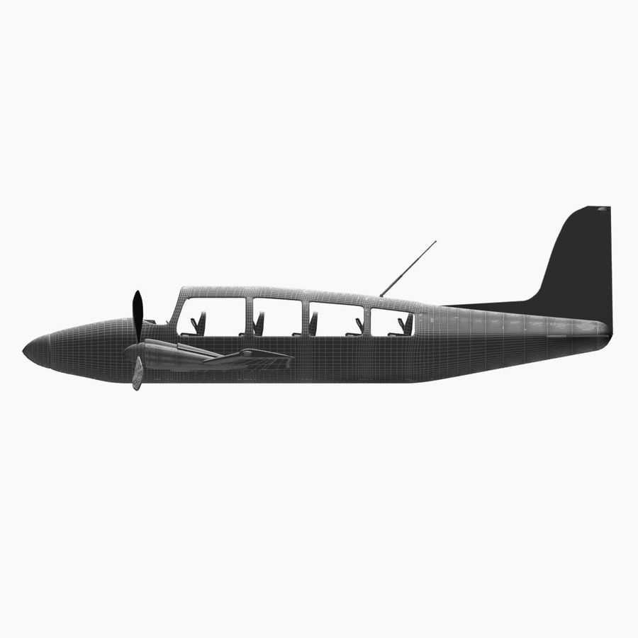 Twin Piston Small Airplane royalty-free 3d model - Preview no. 30