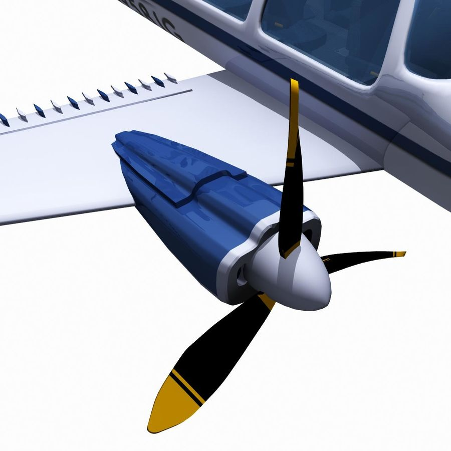 Twin Piston Small Airplane royalty-free 3d model - Preview no. 16