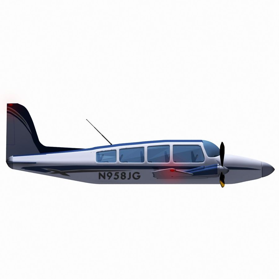 Twin Piston Small Airplane royalty-free 3d model - Preview no. 15