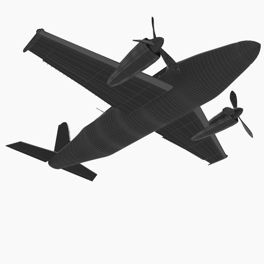 Twin Piston Small Airplane royalty-free 3d model - Preview no. 28