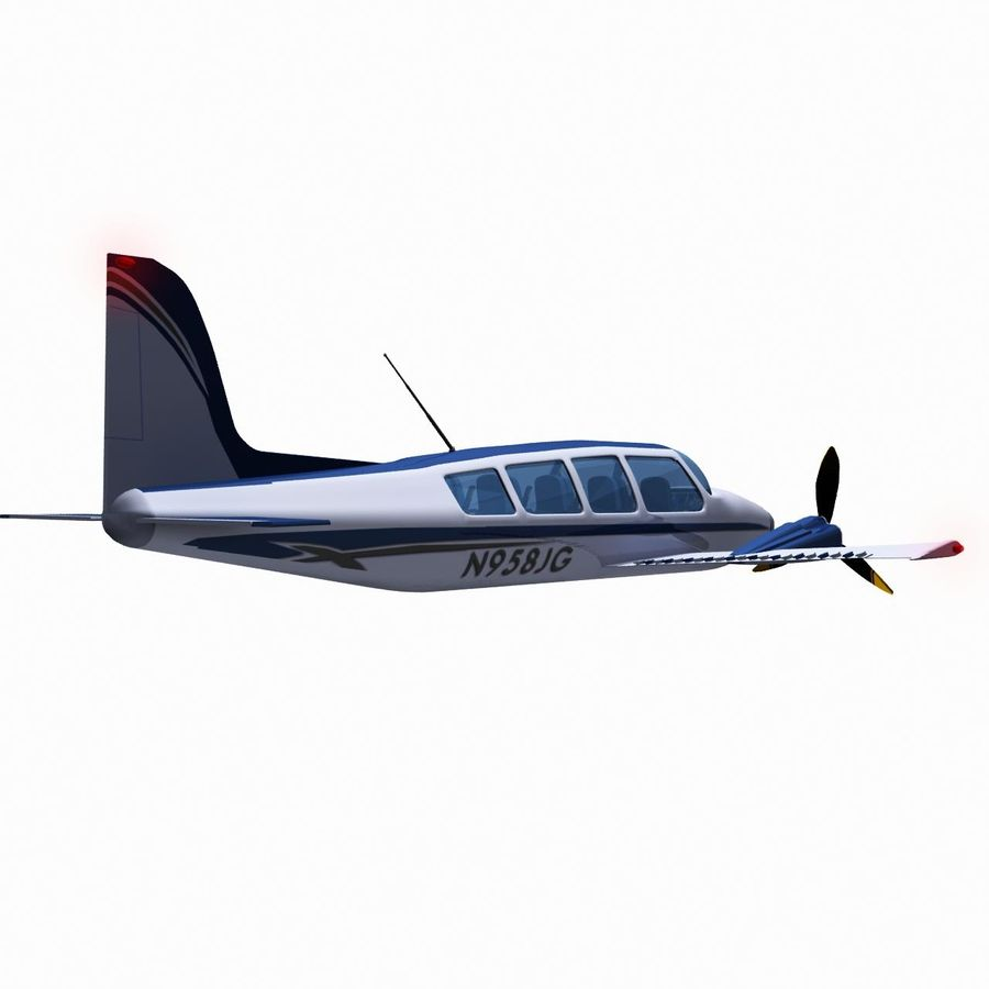 Twin Piston Small Airplane royalty-free 3d model - Preview no. 9