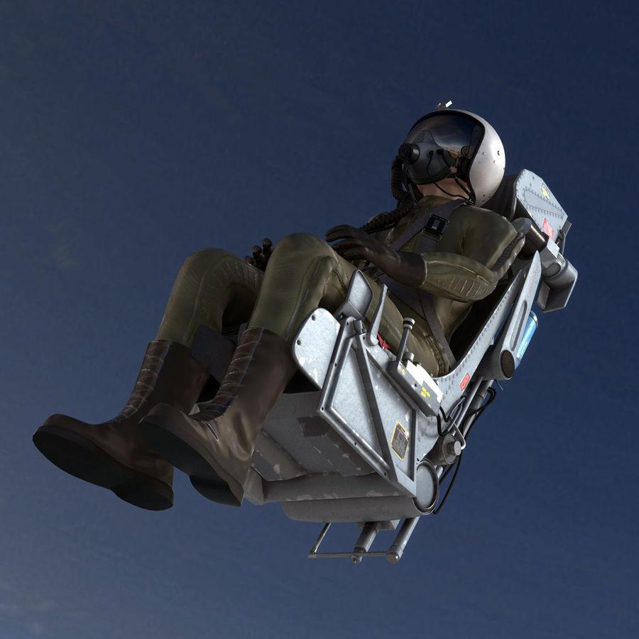 MiG Pilot royalty-free 3d model - Preview no. 10