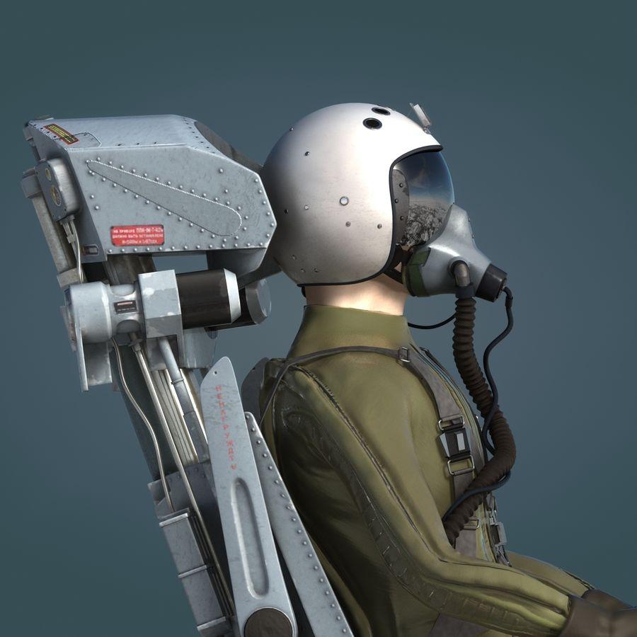 MiG Pilot royalty-free 3d model - Preview no. 9