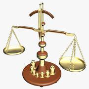 Antike Skalen Mit Gewichten Und Stand 3d model