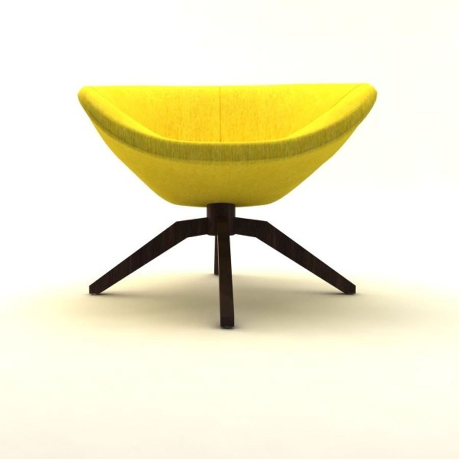 armchairs(1) royalty-free 3d model - Preview no. 8