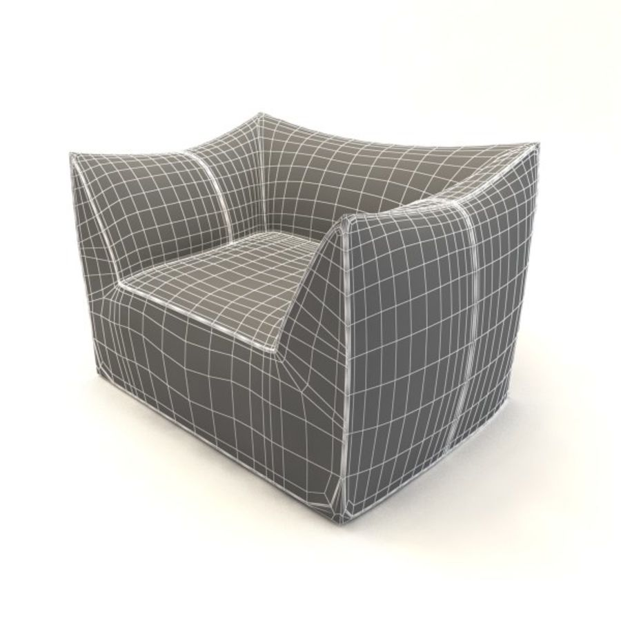 armchairs(1) royalty-free 3d model - Preview no. 3