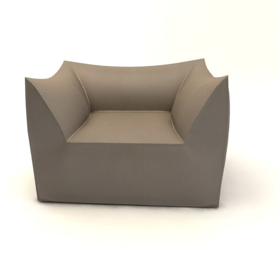 armchairs(1) royalty-free 3d model - Preview no. 5