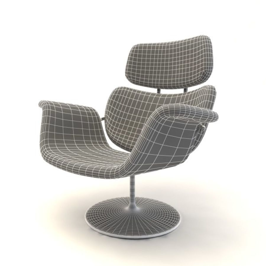 sillones (1) royalty-free modelo 3d - Preview no. 11
