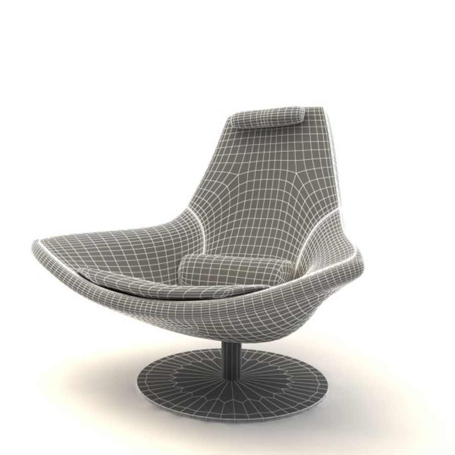 sillones (1) royalty-free modelo 3d - Preview no. 3