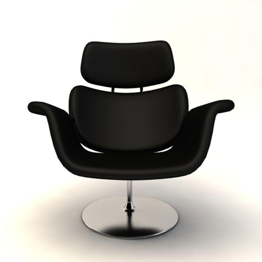 sillones (1) royalty-free modelo 3d - Preview no. 4