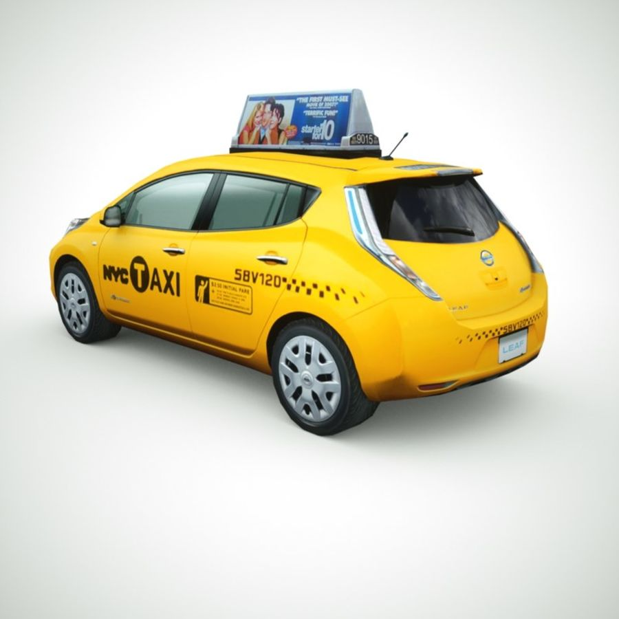 2013 Nissan  LEAF collection royalty-free 3d model - Preview no. 2