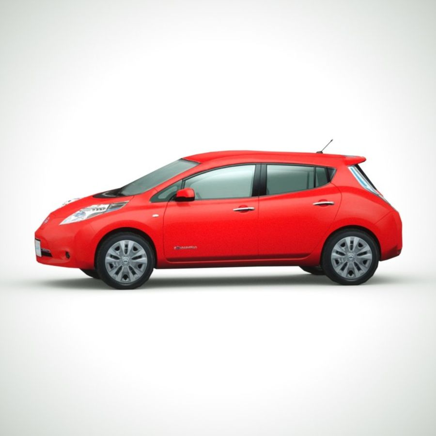 2013 Nissan  LEAF collection royalty-free 3d model - Preview no. 3