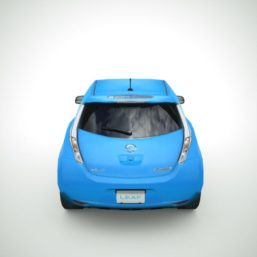 2013 Nissan  LEAF collection royalty-free 3d model - Preview no. 5